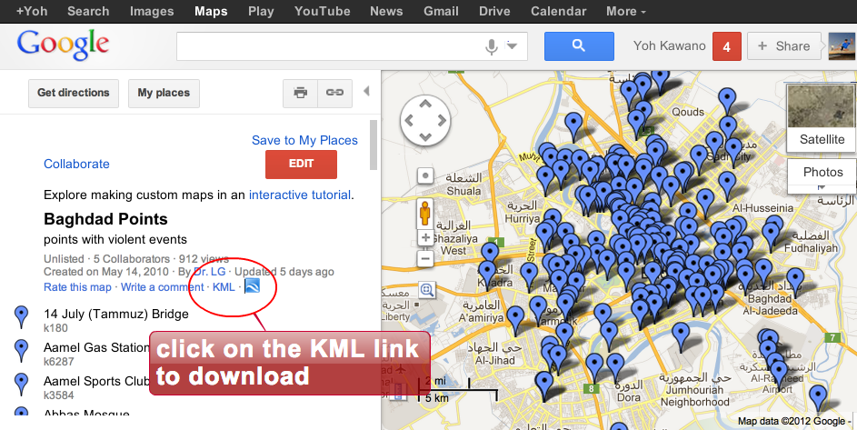 how to open kmz file in google maps