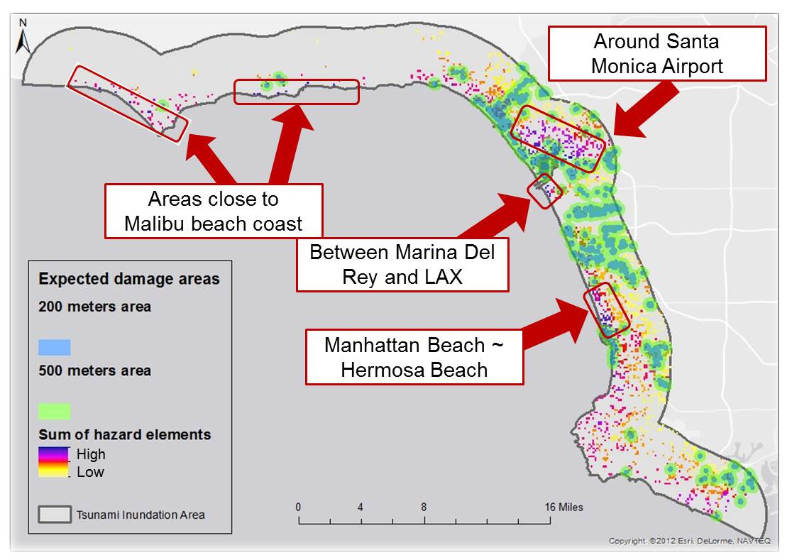 construction of tsunami inundation maps in image
